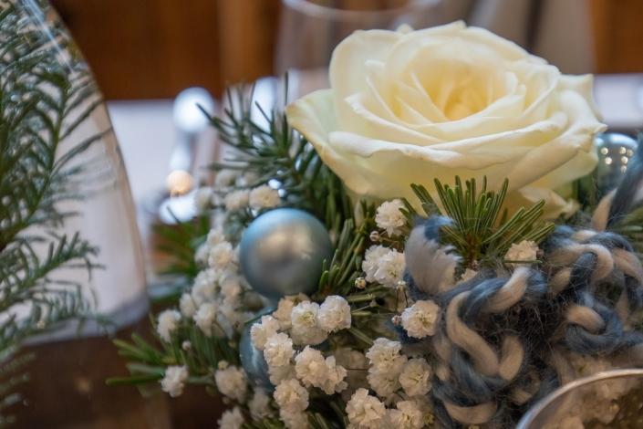 Taufe Junge blau grau weiß weihnachtlich im Himmelreich Ebnisee