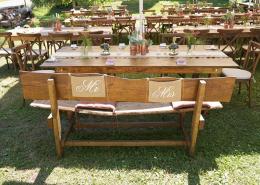 Hochzeit rustikal vintage Look in der Mühle rosegold Jutestoff
