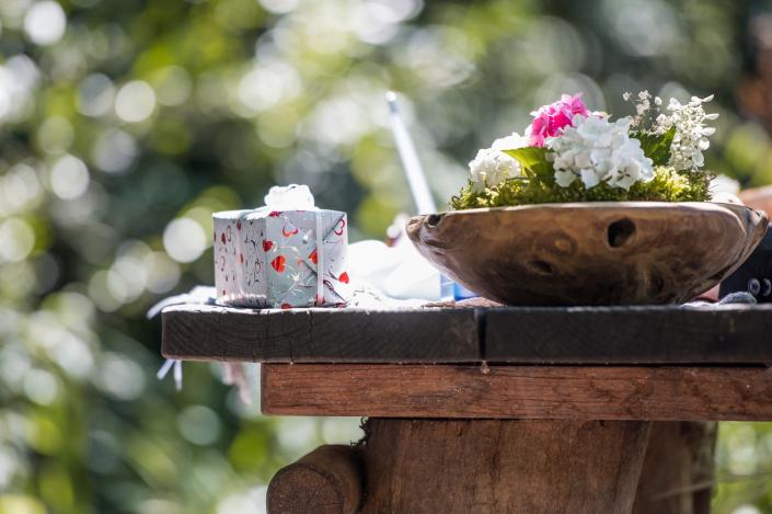 Standesamtliche Trauung im Freien Vintage Look am Bühlhauweiher Althütte
