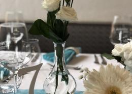 Hochzeit eleganter Look Restaurant Haghof am Golfplatz mintgrün weiß
