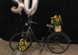 50. Geburtstag Fahrrad Deko herbstlich rustikal Angusstüble Berglen beerentöne
